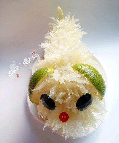 1楼 主题:水果造型~~萌萌的柚子小狗!附教程图片