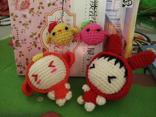 毛线钩织玩偶