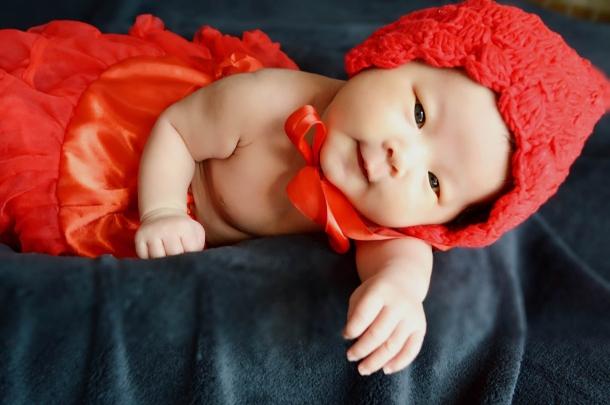 【 小红帽 —— 满月照 】 - 可爱宝宝论坛 - 育儿