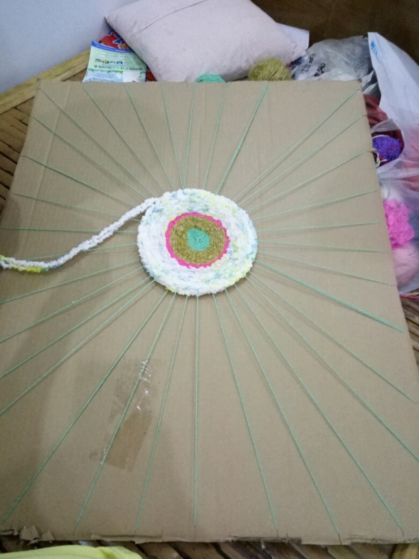 幼儿园手工毛线制作伞