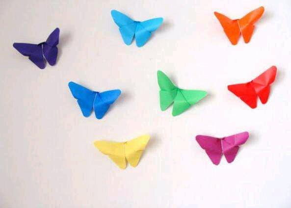 蝴蝶折纸教程 如何折纸蝴蝶diy图解