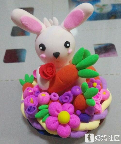 超轻粘土之可爱的兔子